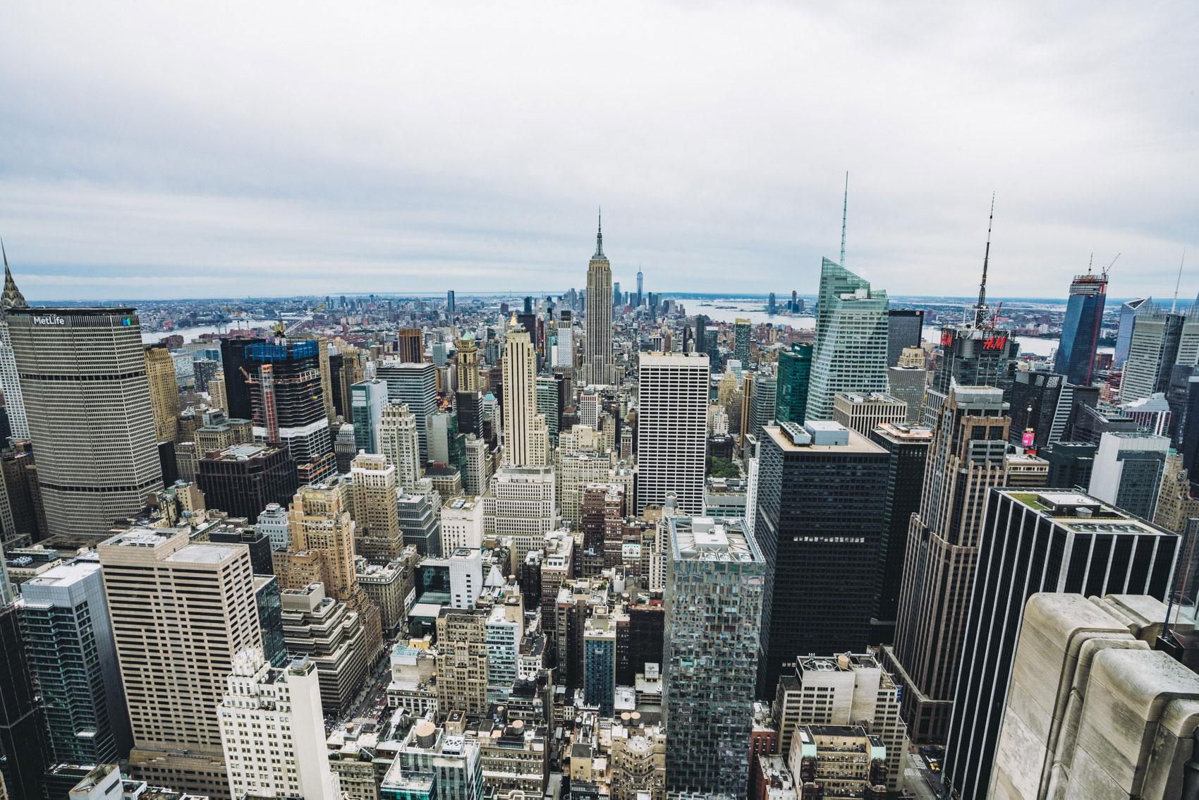 Die Aussicht von Top of the Rock zum Central Park wird nach und nach verbaut.