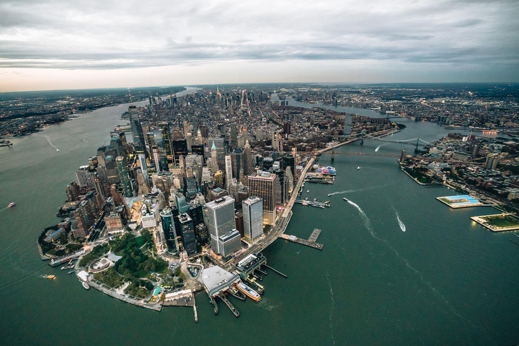 Beste Aussicht New York Helikopter ohne Türen