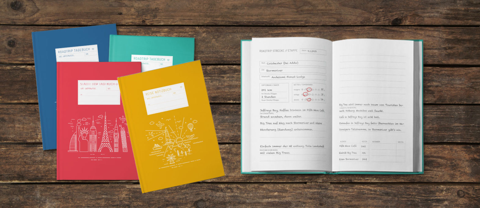Reisetagebuch zum selberschreiben: Tipps zum kaufen und gestalten
