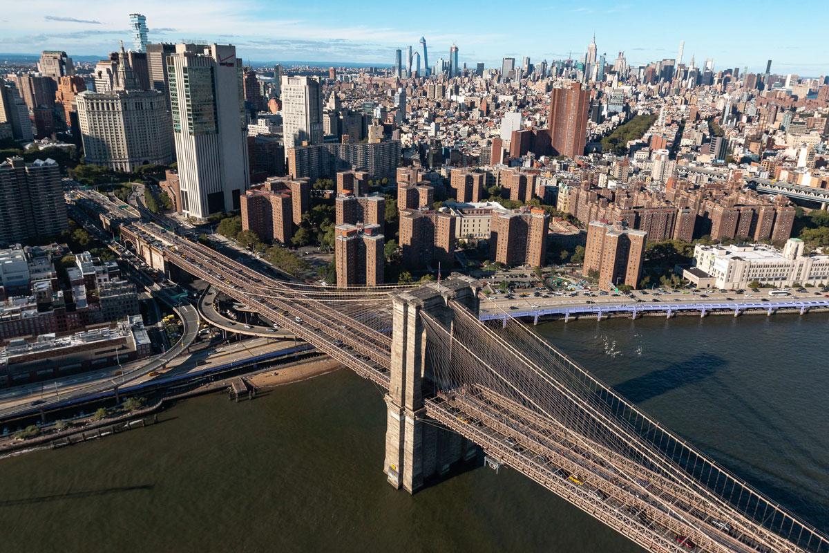 Brookyln Bridge von oben