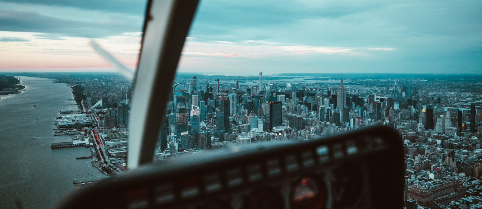 Helikopterflug New York Aussicht Manhattan