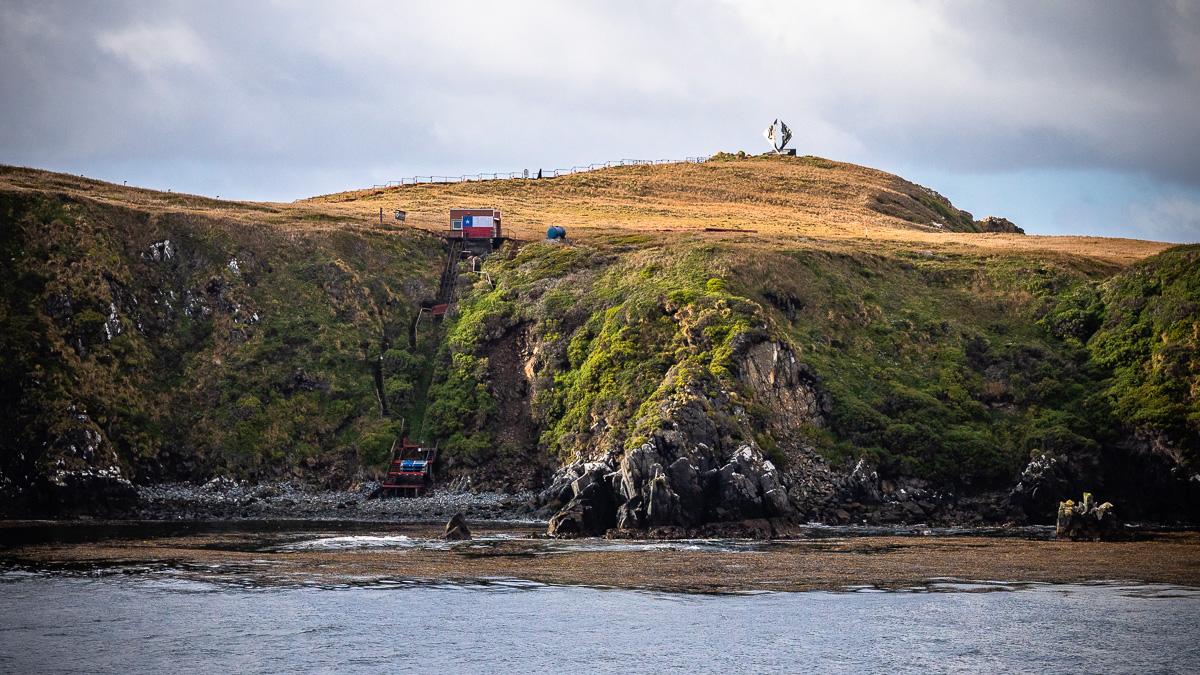 Kap Hoorn Treppe und Albatross Denkmal