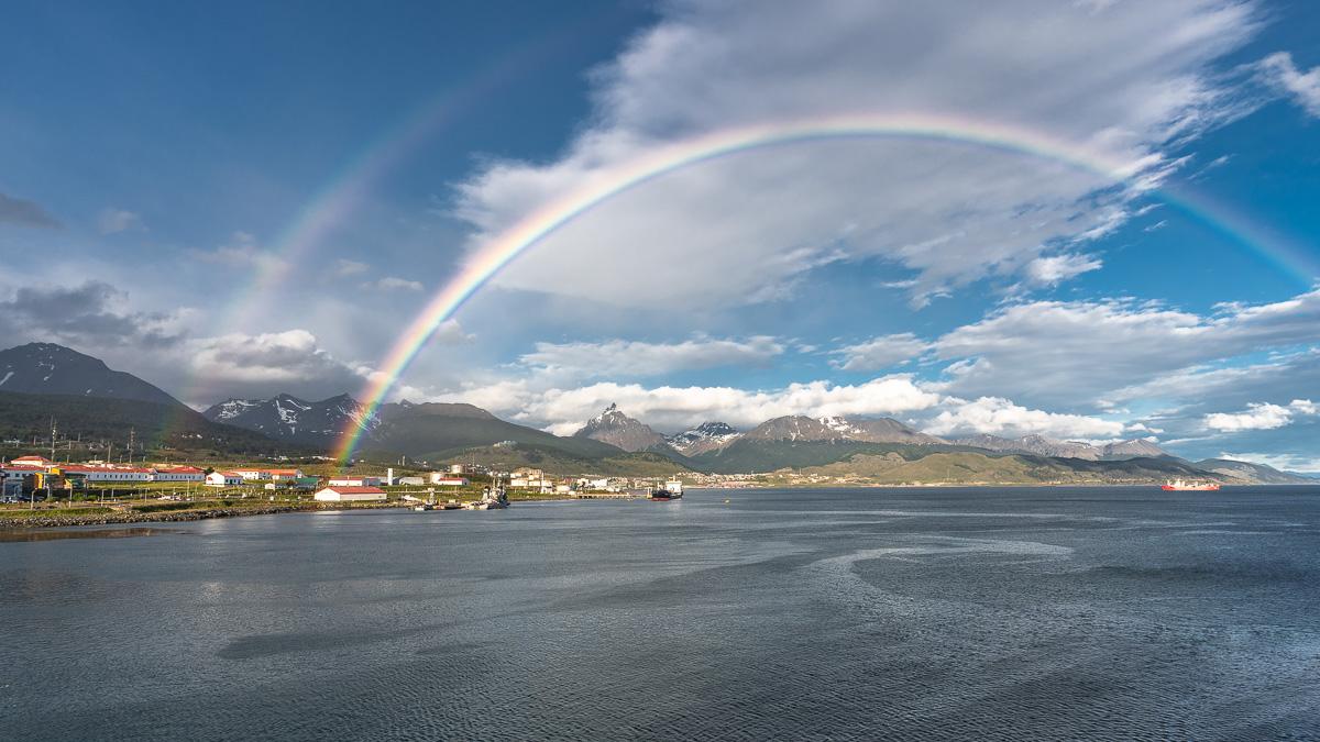 Regenbogen über Ushuaia, Feuerland