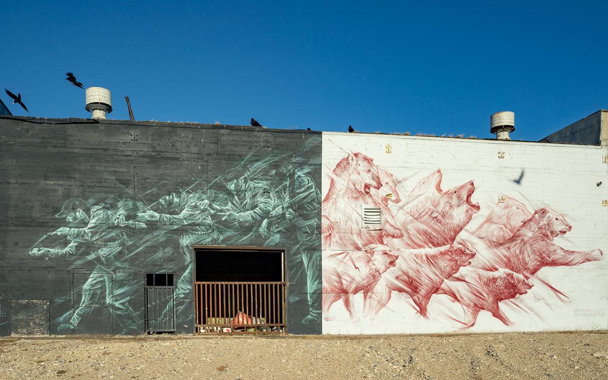 Sea Walls mit Street Art in Churchill
