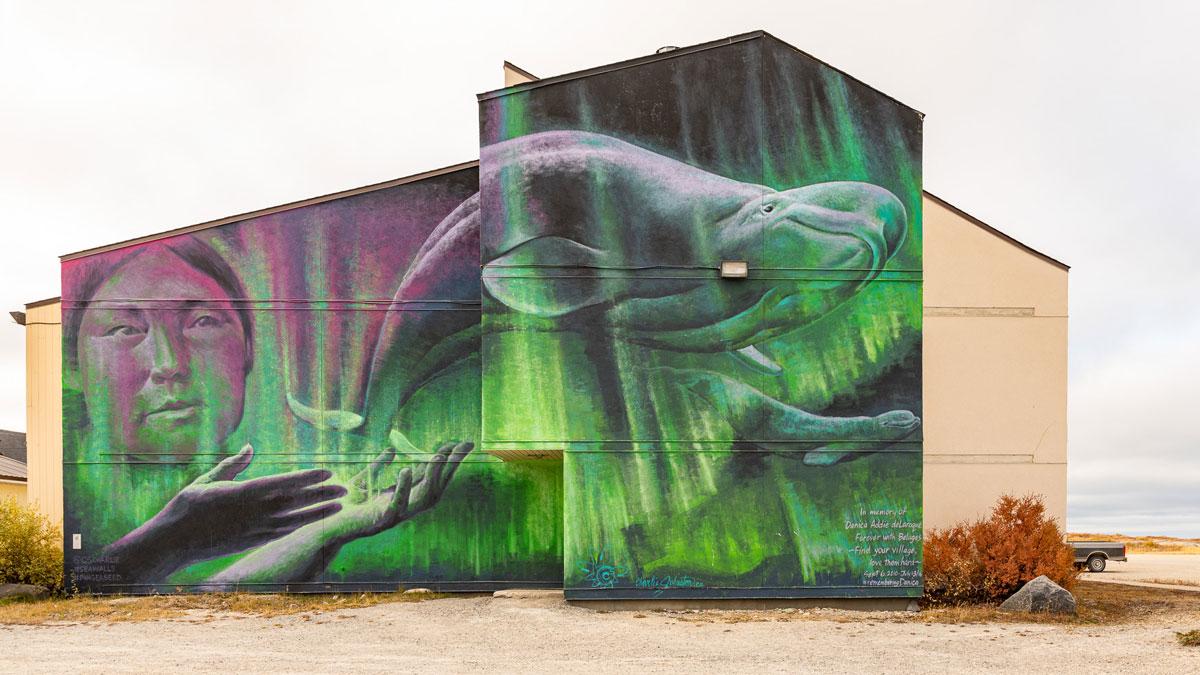 Beluga Street Art Churchill