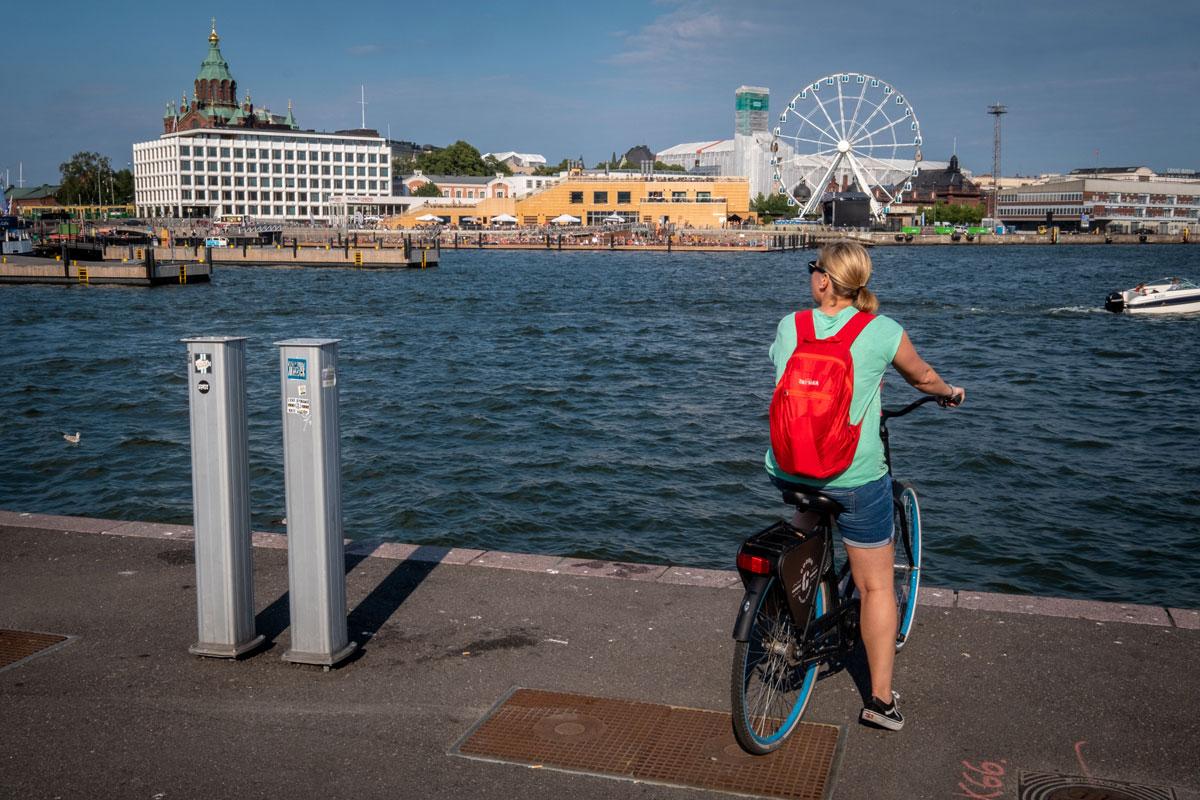 Helsinki Fahrrad fahren