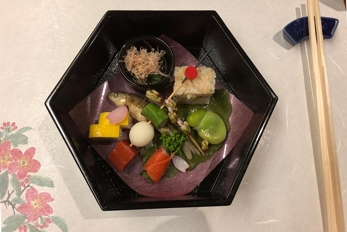 Fisch beim Kaiseki Dinner