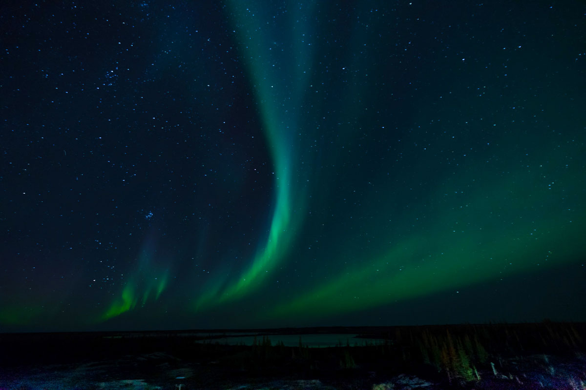 Polarlichter Churchill Manitoba