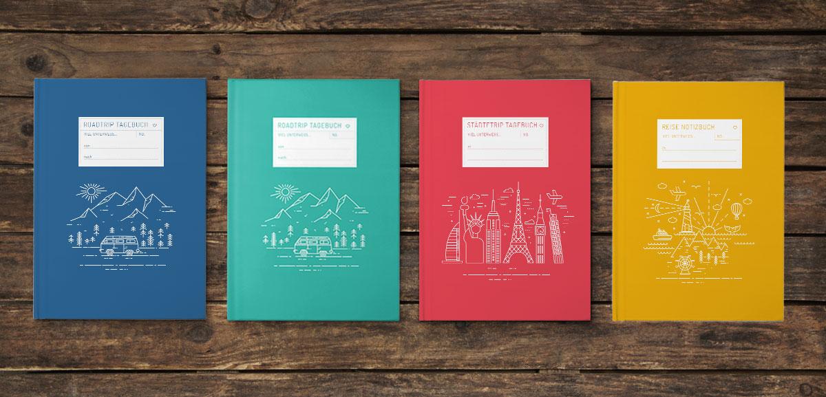 Übersicht Reisetagebücher selber schreiben