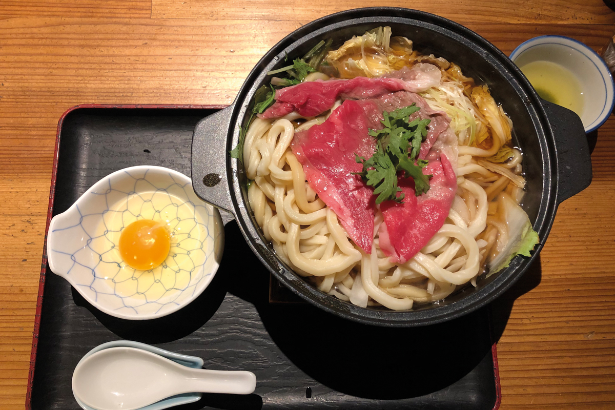 Sukiyaki mit Ei