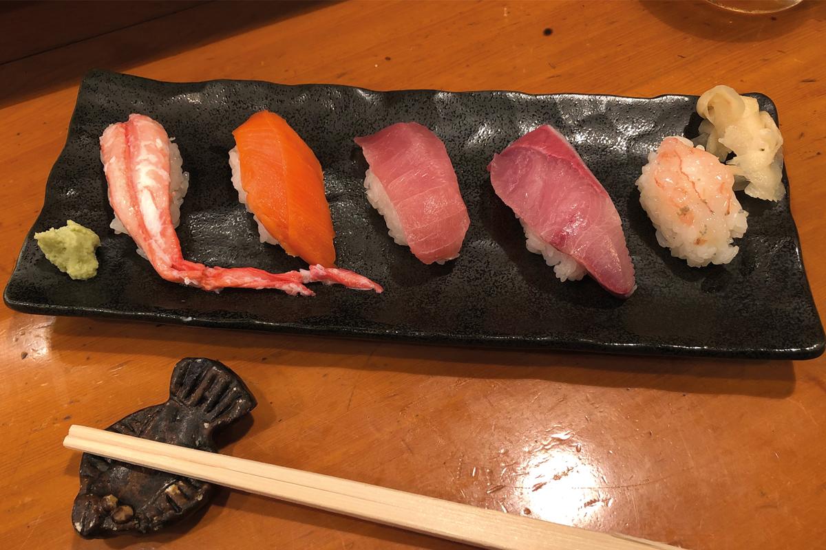 Nigiri Sushi mit Fisch