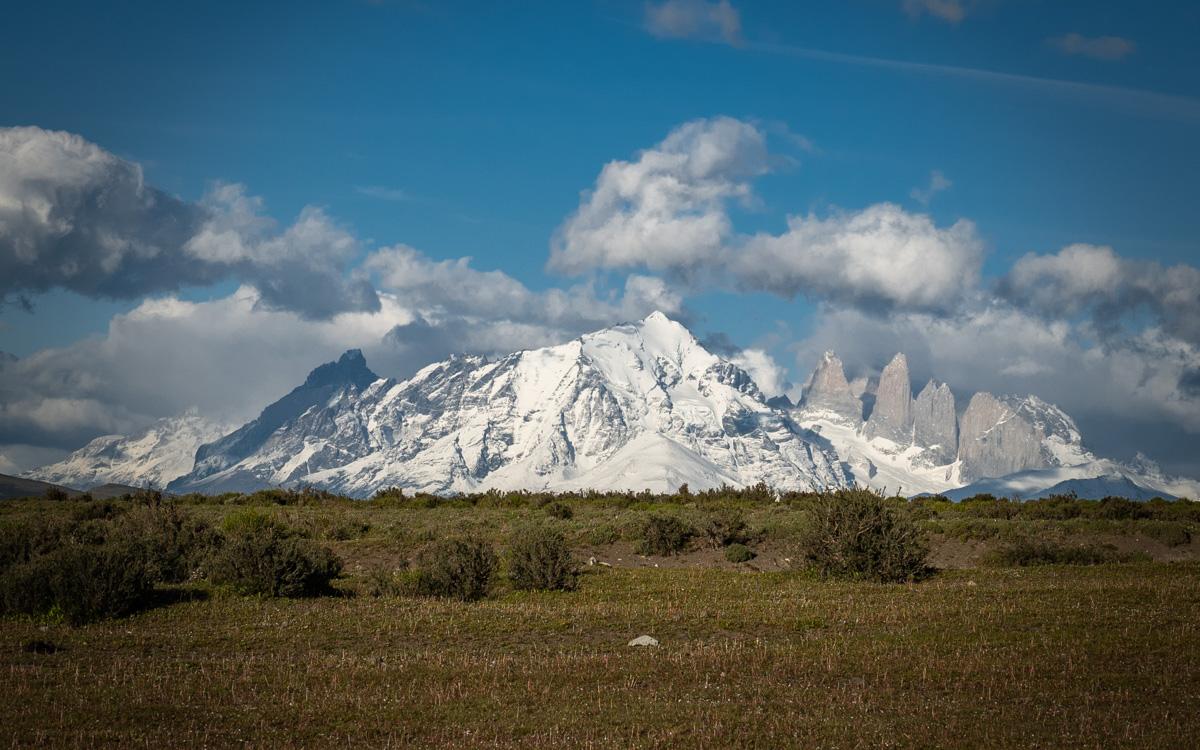 Cerro Guido Anblick auf Torres del Paine