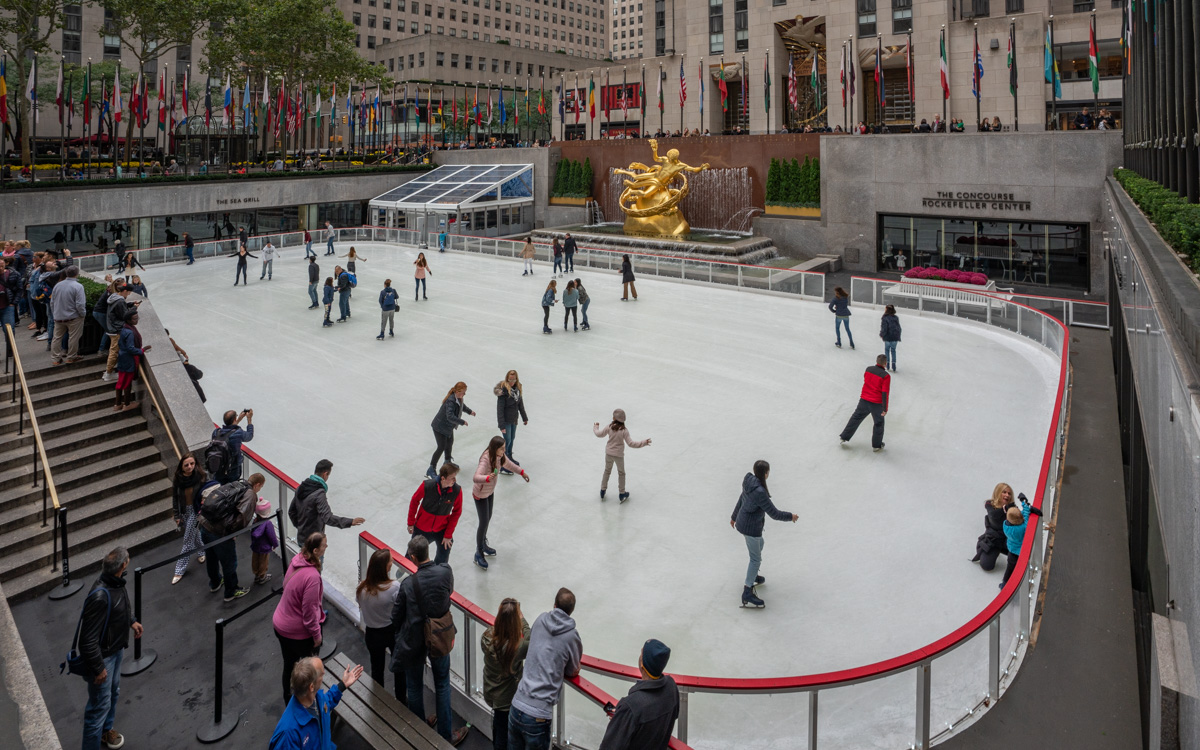 Eislaufen am Rockefeller Center
