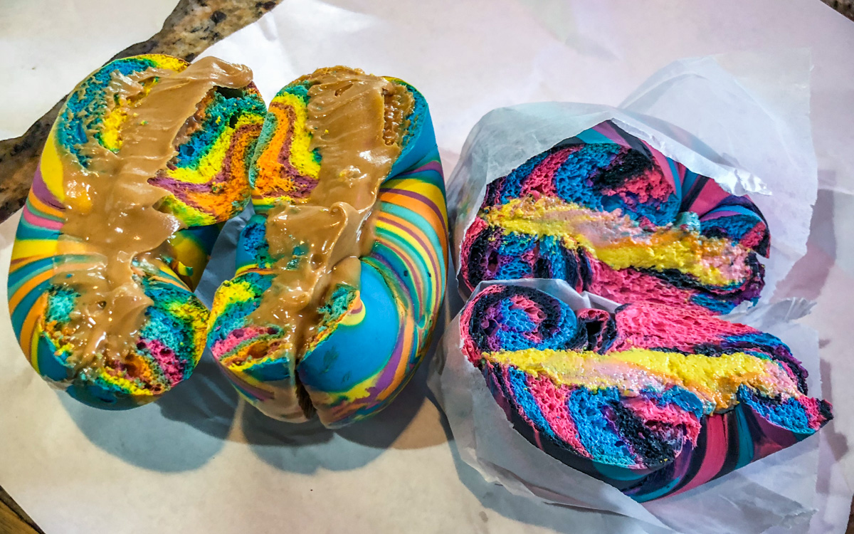 Rainbow Bagels New York
