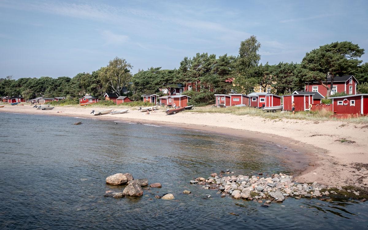 Rote Fischerhütten Hanko