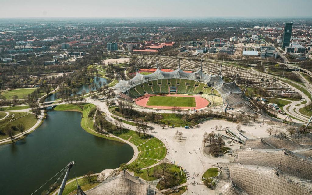 Olympiapark München Aussicht