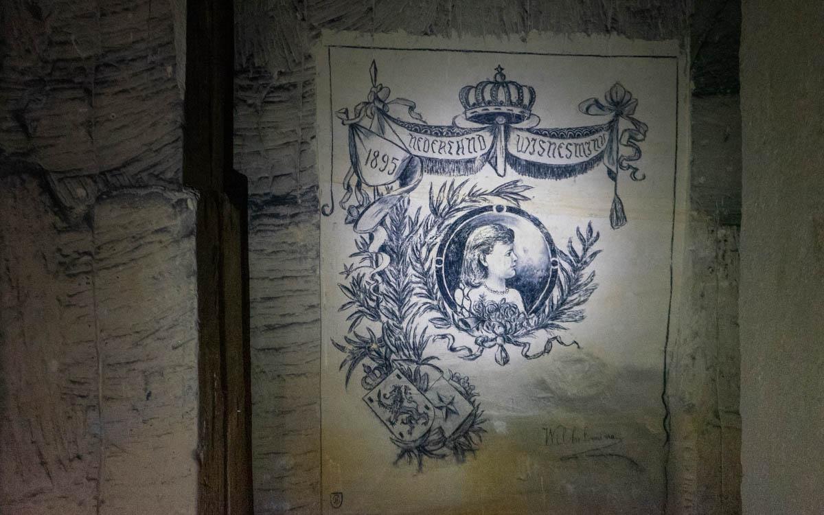Malerei in den Grotten von St. Pieter