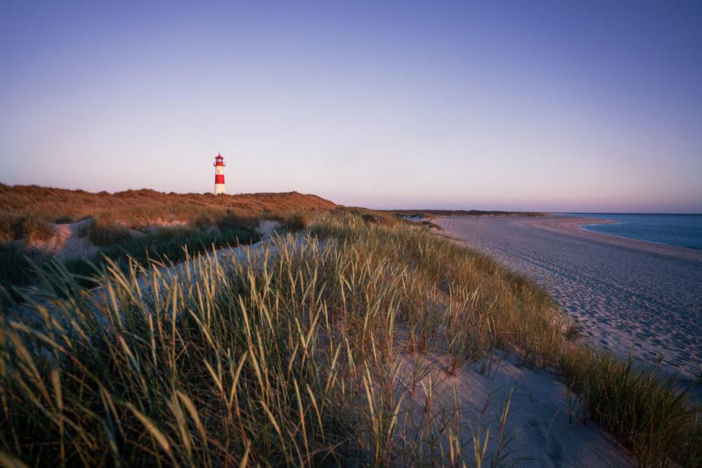 Leuchtturm Ellenbogen Ost. Sonnenaufgang