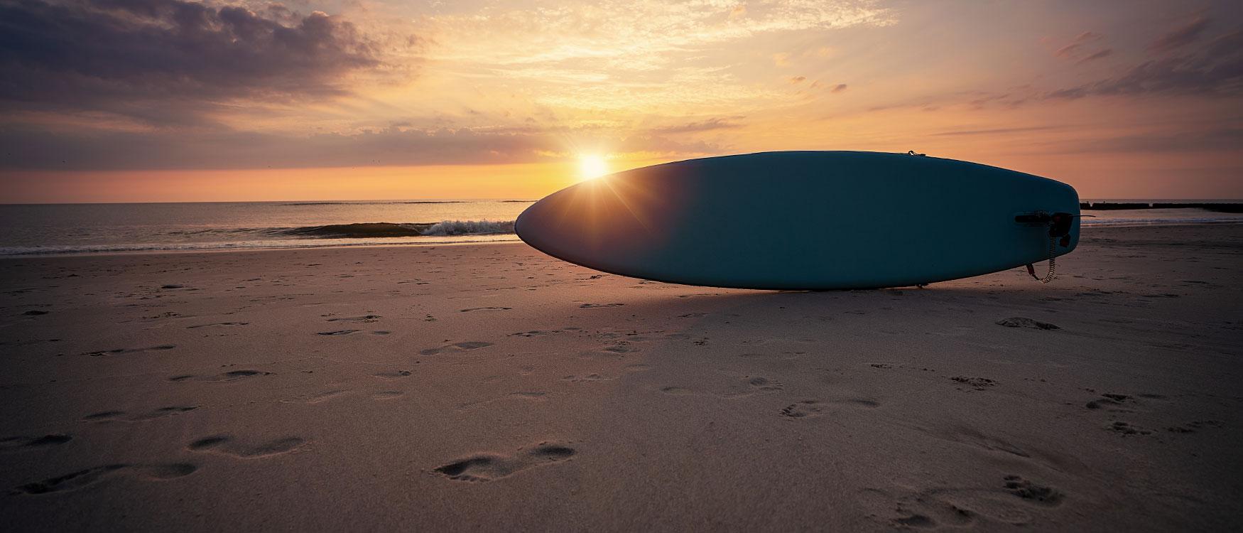 Sonnenuntergang in Kampen am Strand