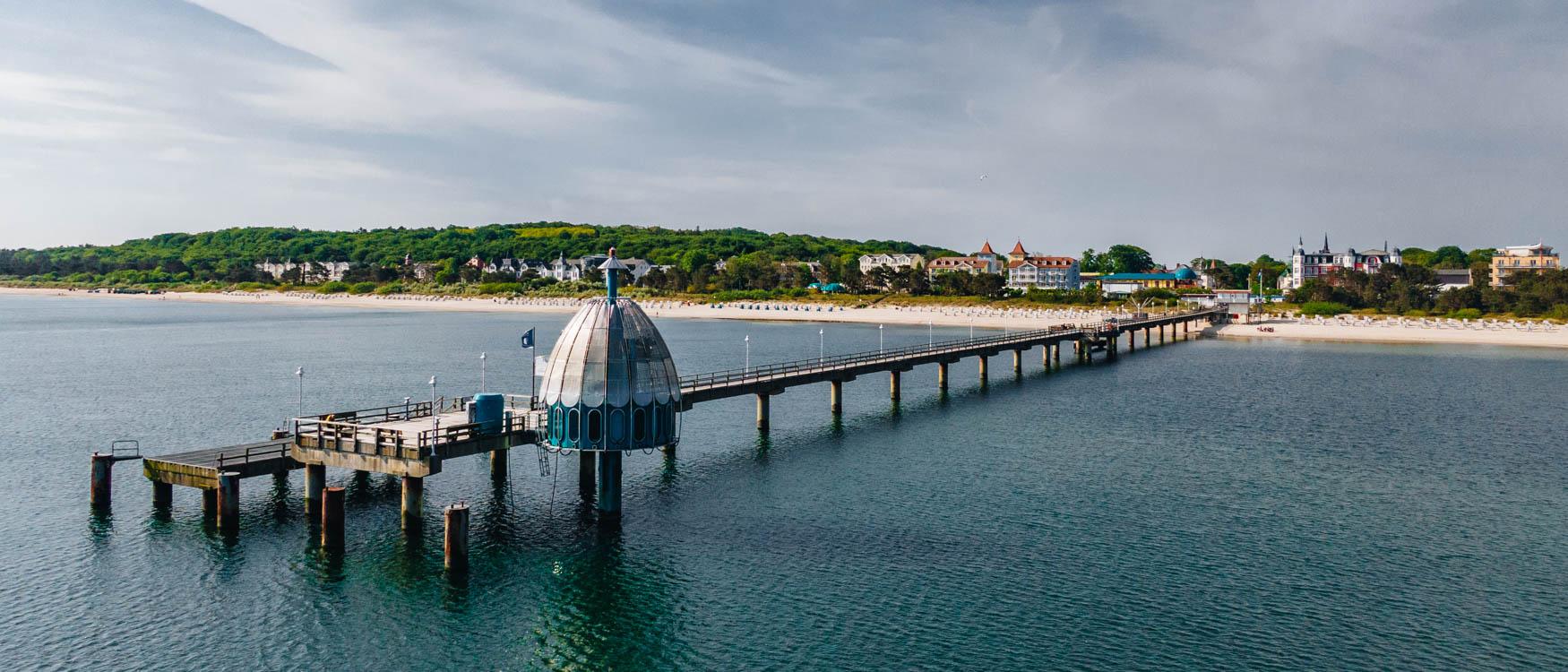 Zinnowitz Seebrücke mit Tauchgondel