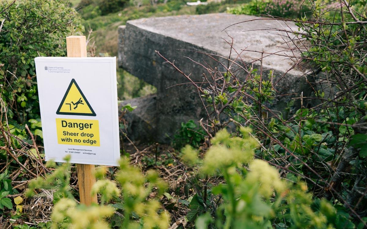 Guernsey-Zugewachsener-Bunker