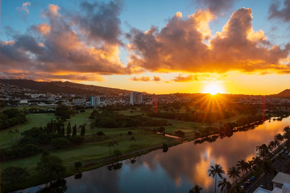 Waikiki, Honolulu auf Oahu (Hawaii)