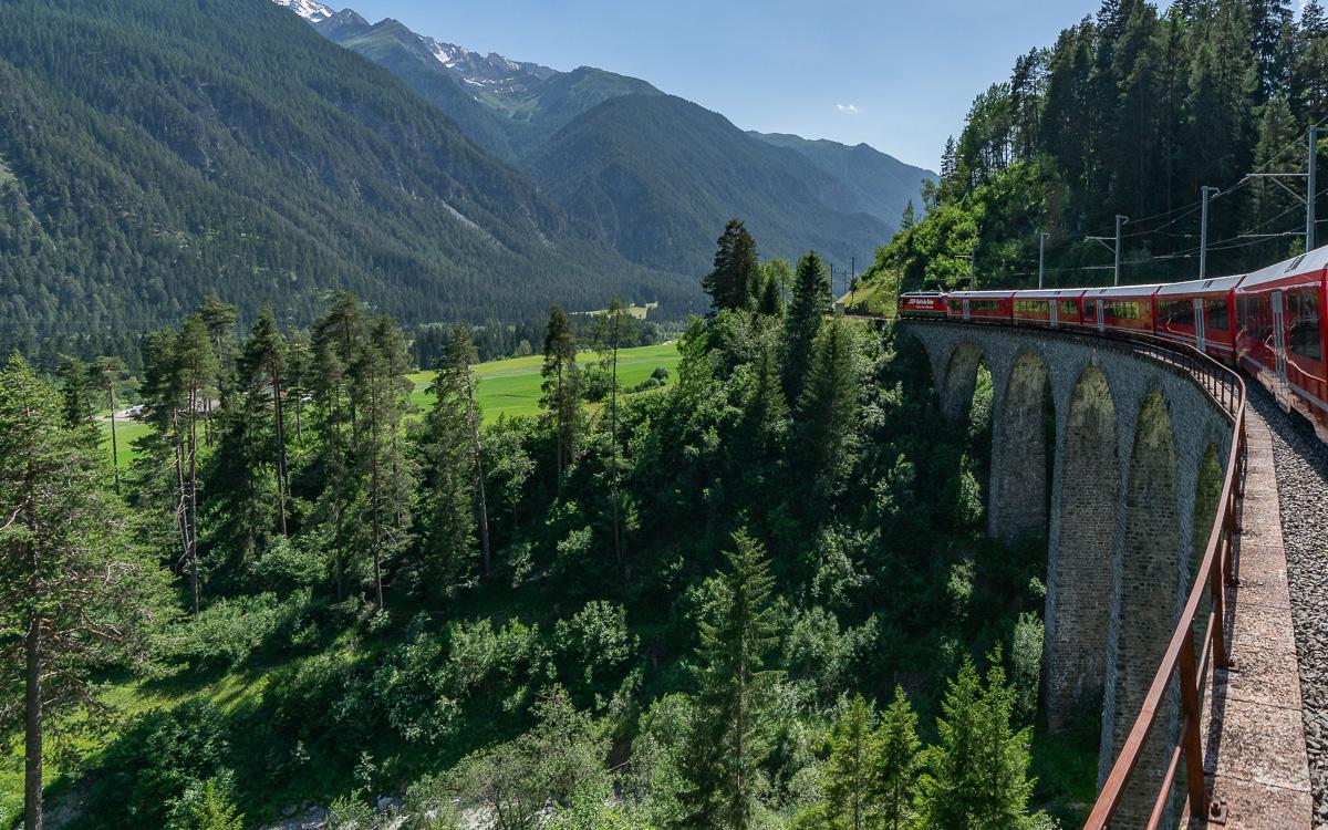 Landwasserviadukt Rückweg nach Chur.