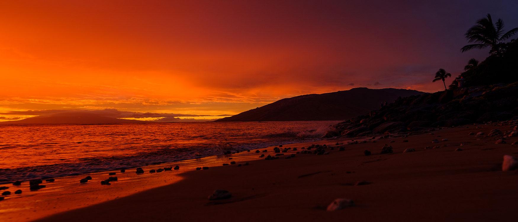 Sonnenuntergang Maui, Hawaii ©Ines Thomsen