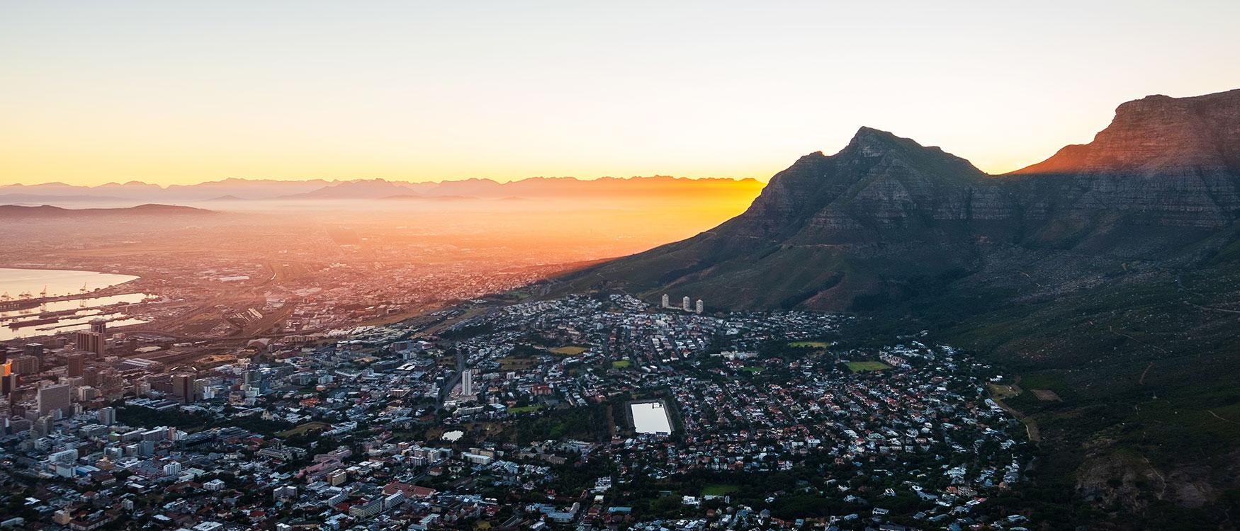 Vor Sonnenaufgang Kapstadt