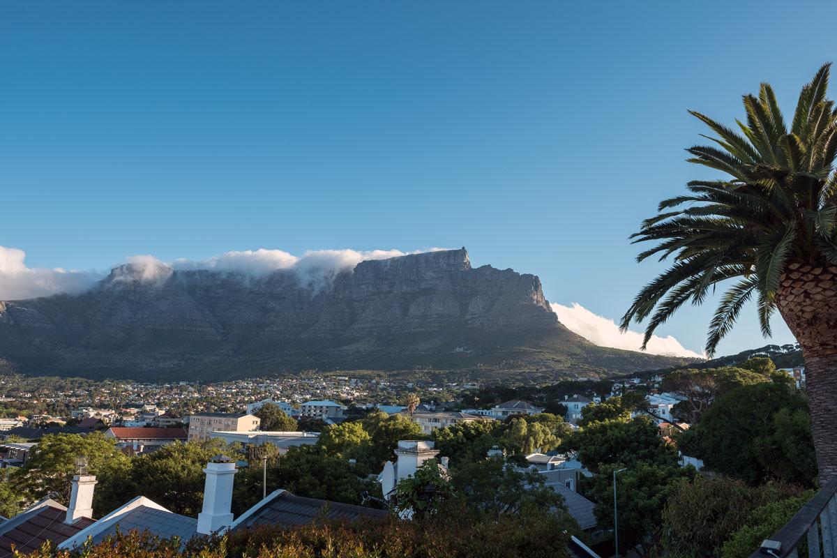 Tamboerskloof Kapstadt Tafelberg Blick
