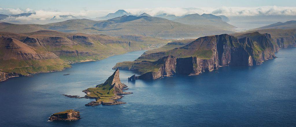 Anreise Färöer Inseln von oben