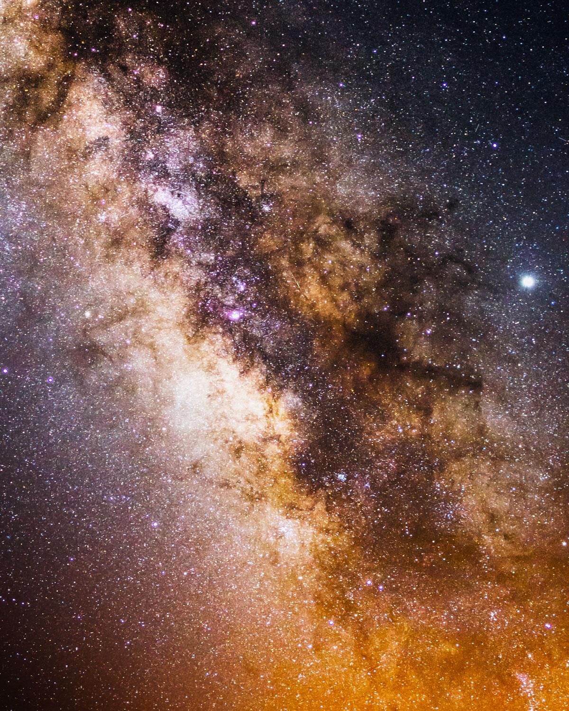 Milchstraße fotografieren Detail
