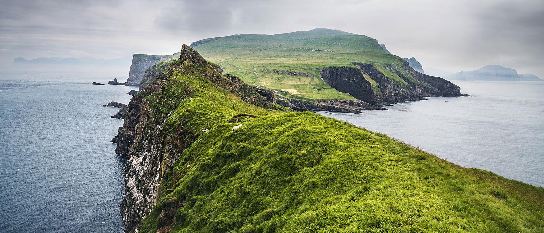 Natur Insel Mykines Färöer Inseln