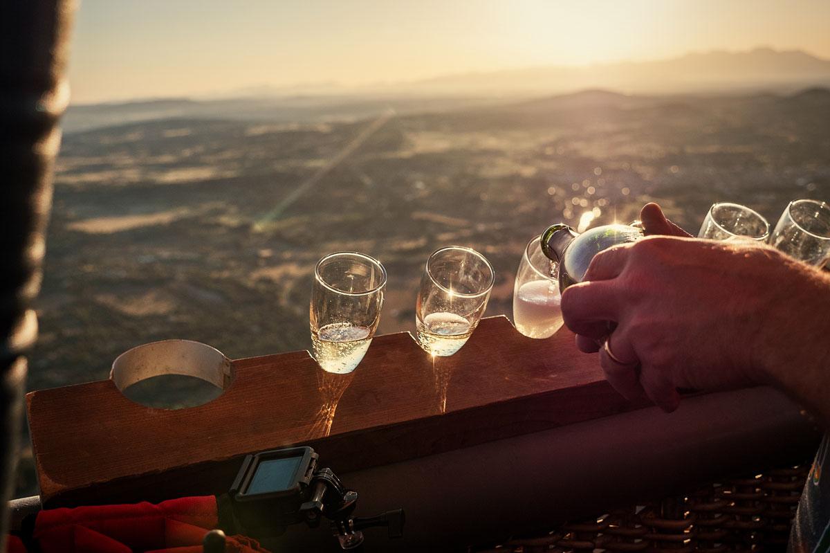 Ballonfahrt Mallorca Sekt