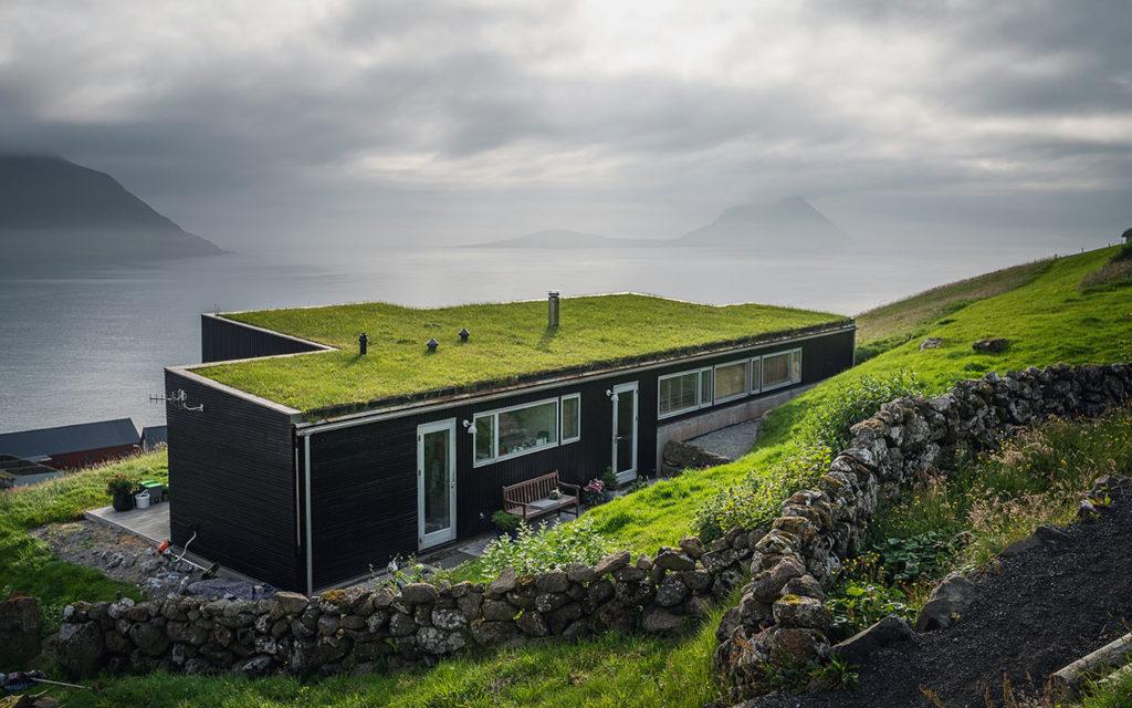 Tolles Haus der Gastgeber beim Färöer Heimablídni