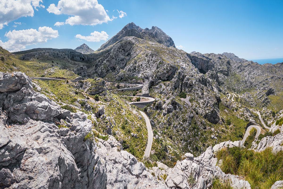 Über den Pass der Serra de Tramuntana