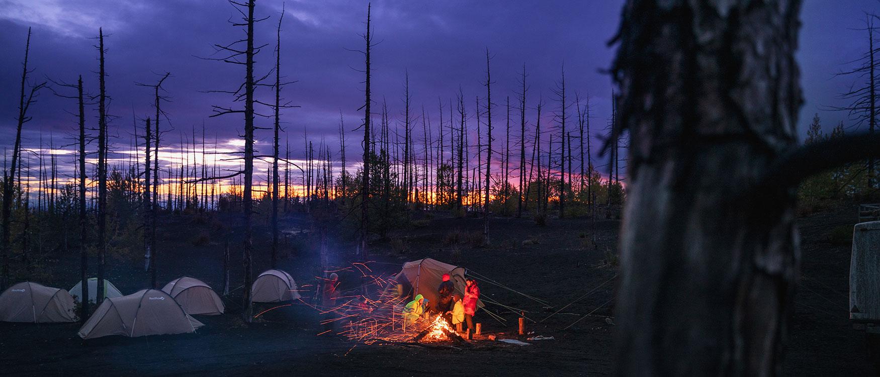Kamtschatka Toter Wald Camping