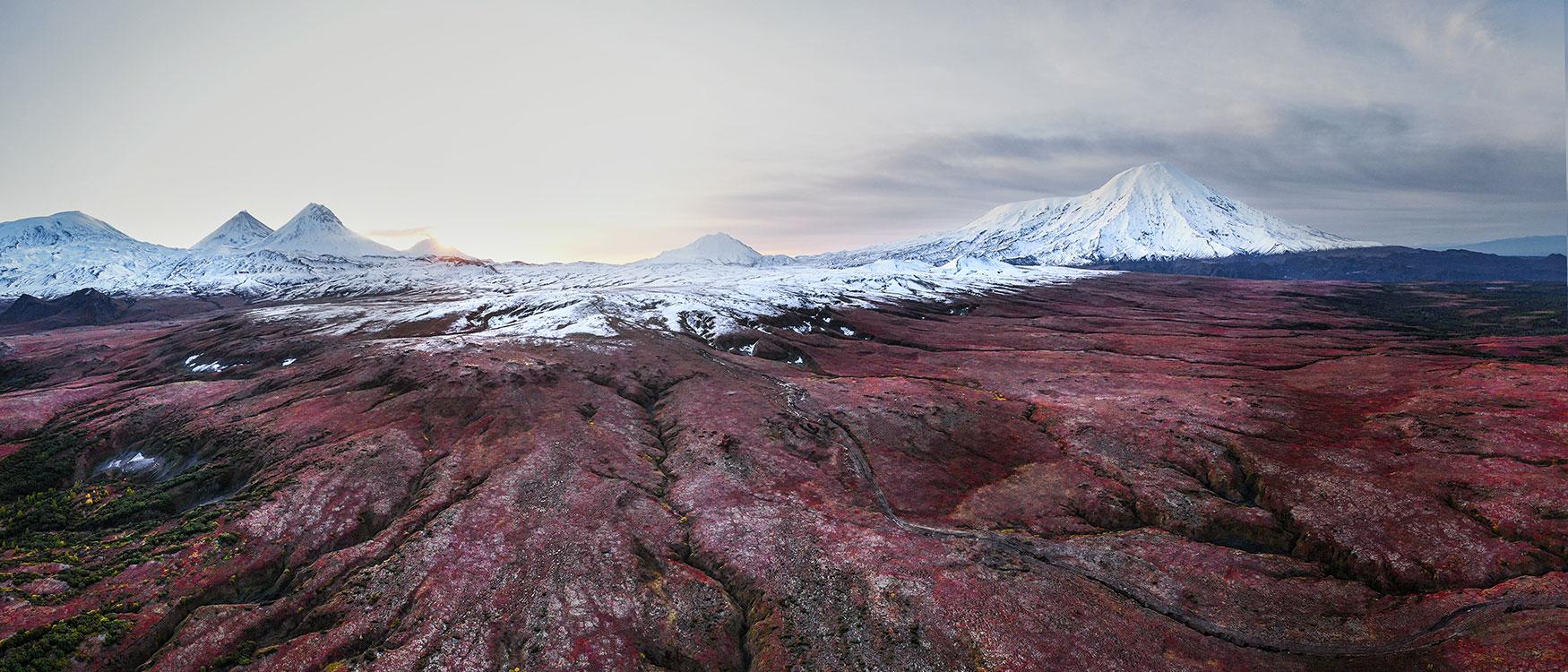 Vulkan Panorama Kamtschatka