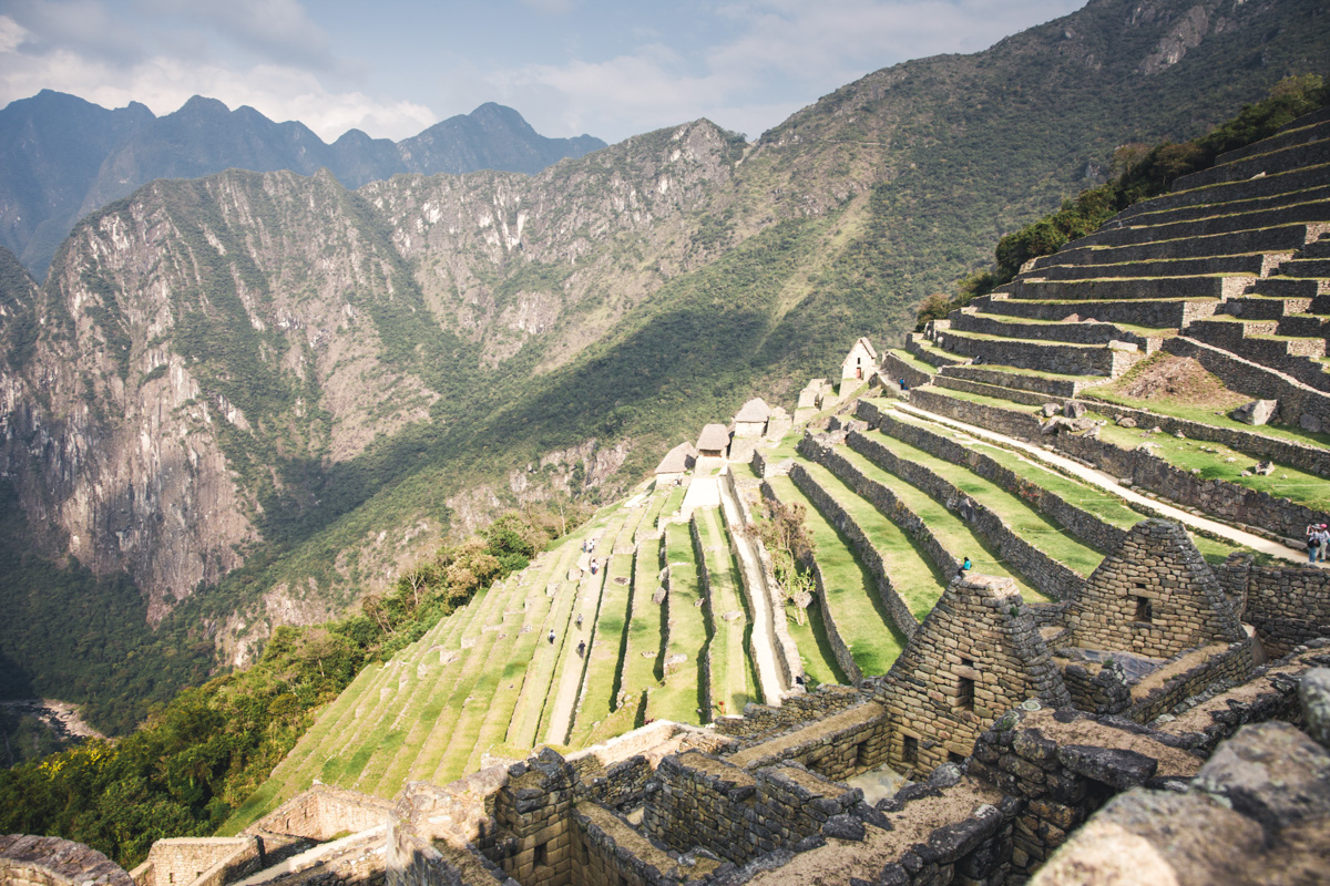 Terrassen am Machu Picchu