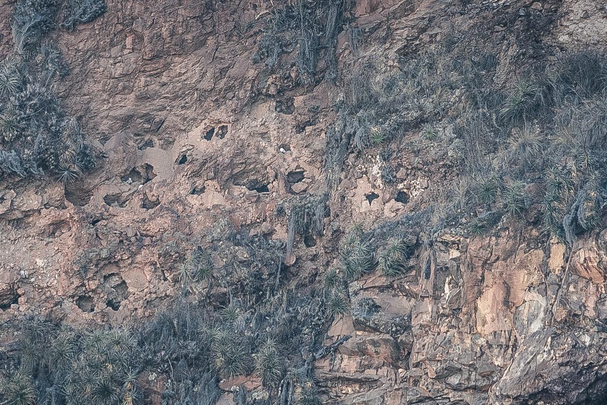 Pisac Peru Höhlen Knochen