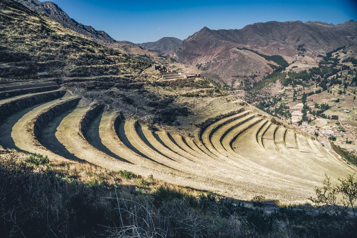 Terrassen von Pisac in Peru