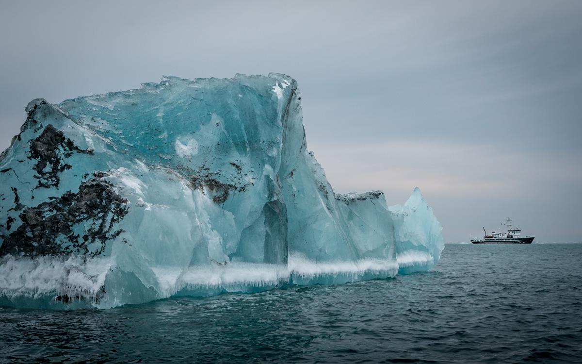 Eisberg Schiff Größe