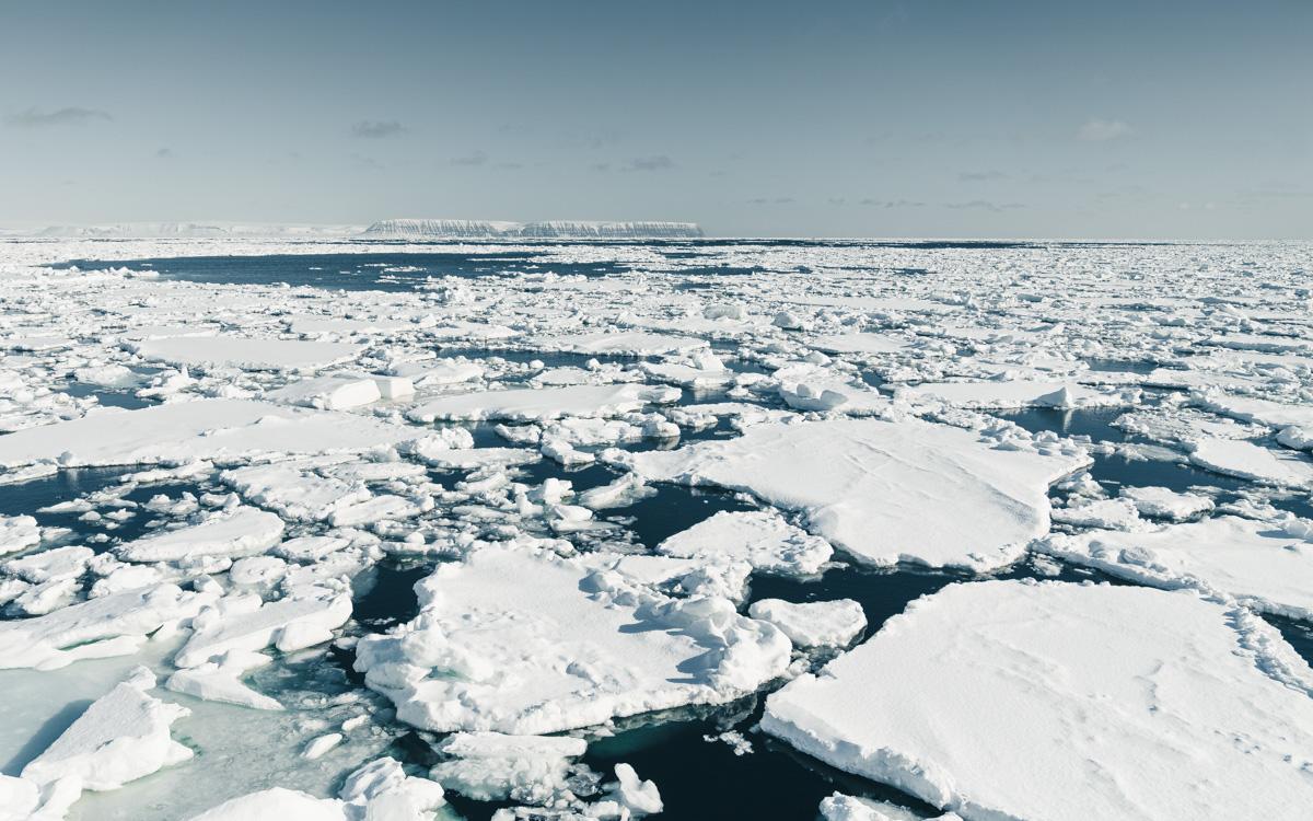 Packeis aufgebrochen Spitzbergen