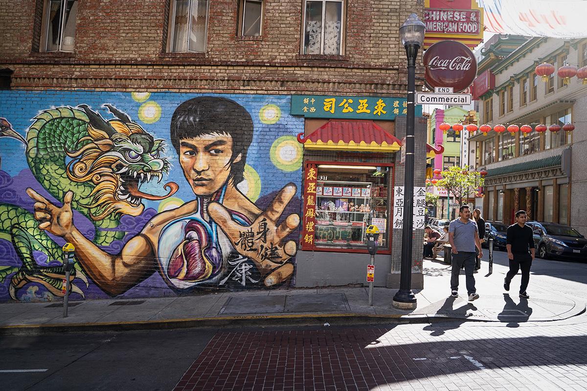 Bruce Lee Mural San Francisco