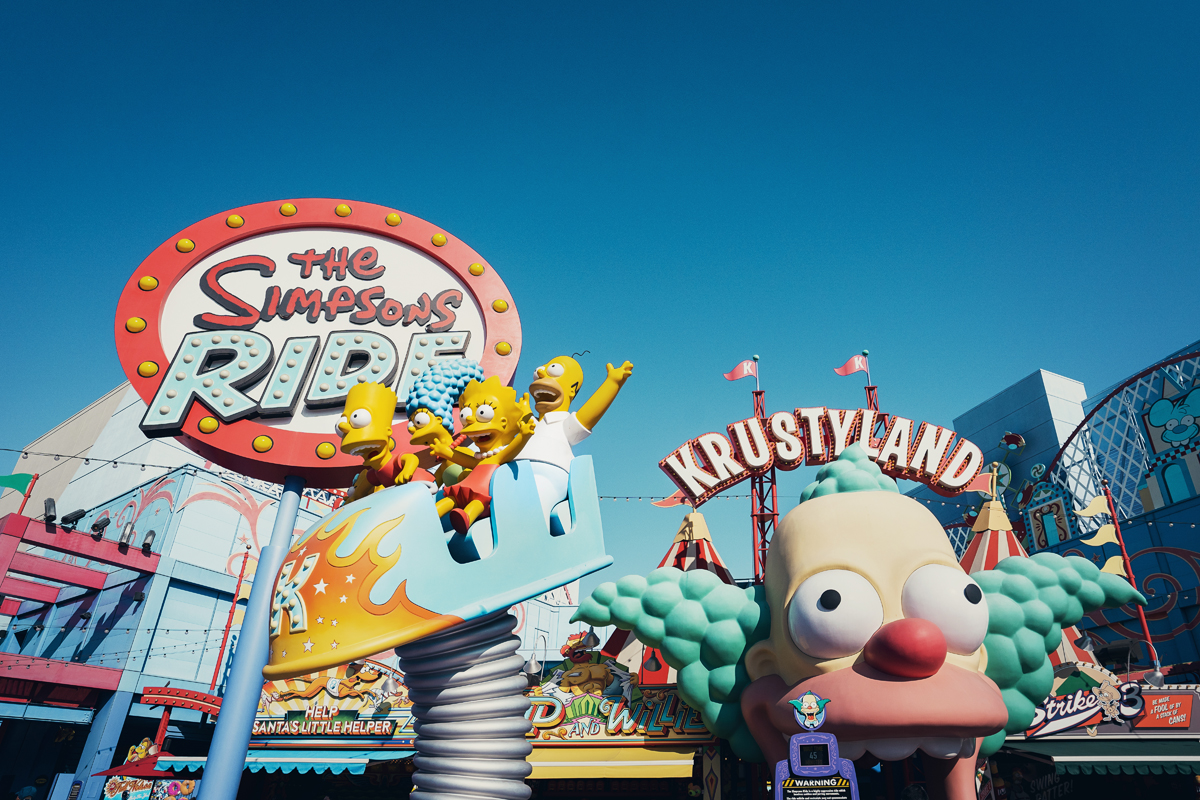 Krustyland Simpsons Universal Studios Hollywood