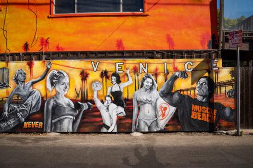Arnold Schwarzenegger Street Art in Venice