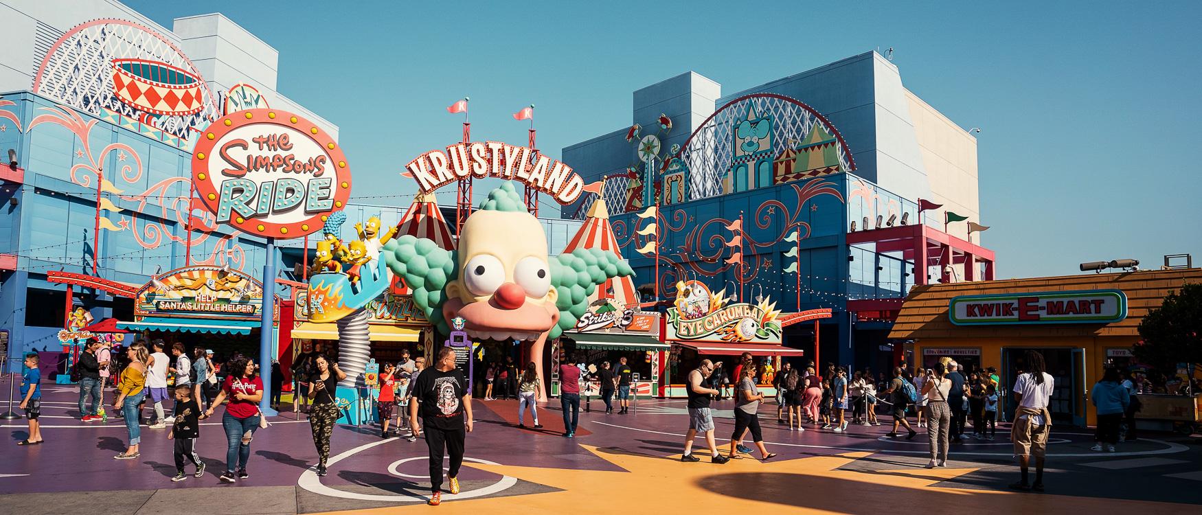 Krustyland, The Simpsons Ride Universal Studios Hollywood, LA