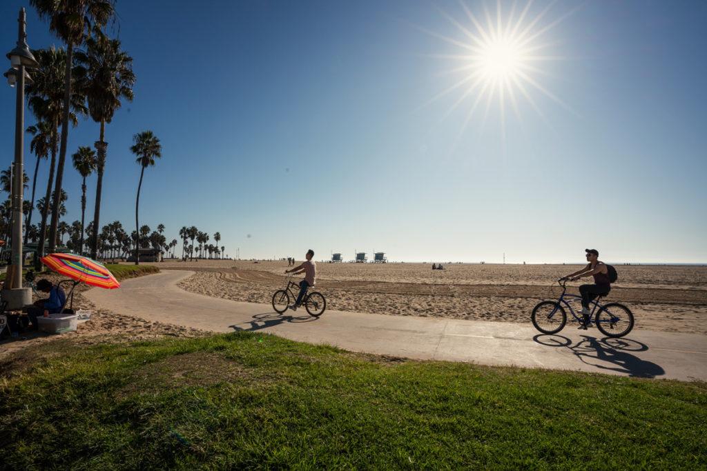 Venice Fahrrad fahren