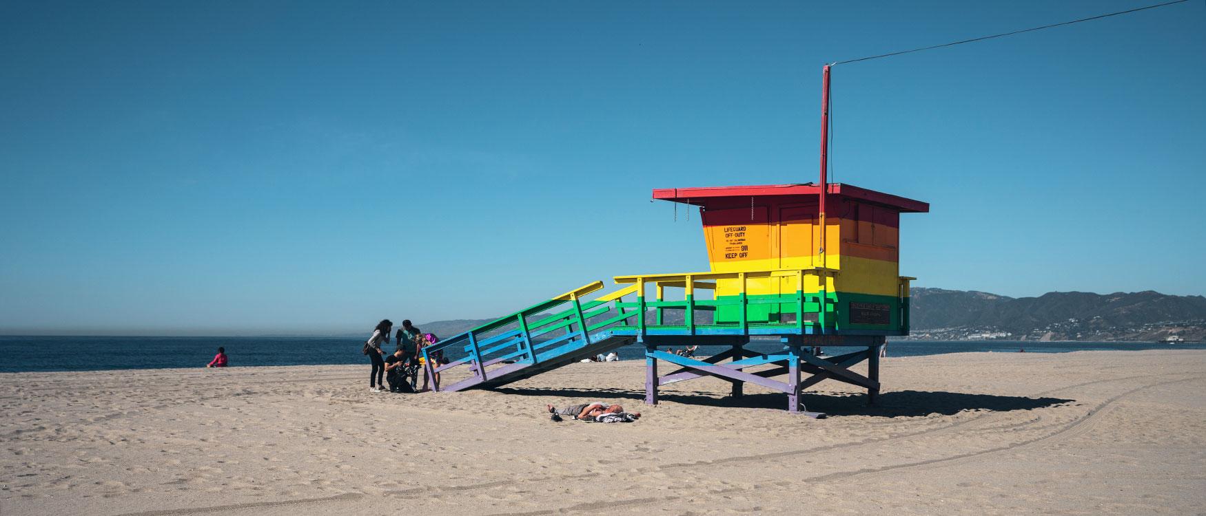 Venice Beach L.A. Venice Pride Lifeguard Tower
