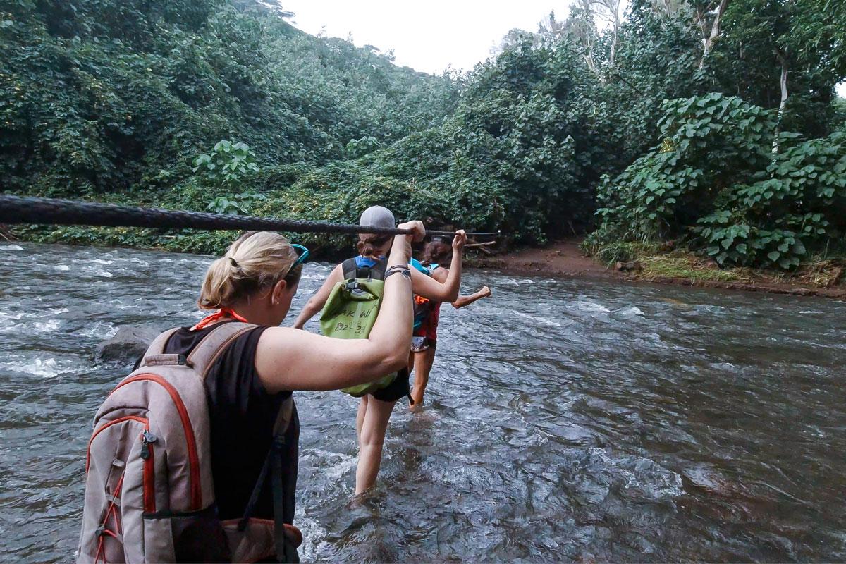 Waimea River in Kauai, Hawaii.